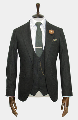 BARRA GREEN: 3 PIECE SUIT - HIRE (IN STORE: £100 / ONLINE: £125)