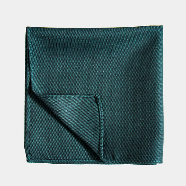 Logan Emerald Pocket Square.