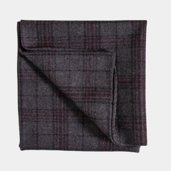 Inisheer Check Pocket Square.