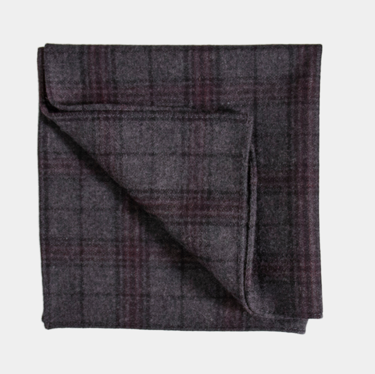 Inisheer Check Pocket Square - Hire