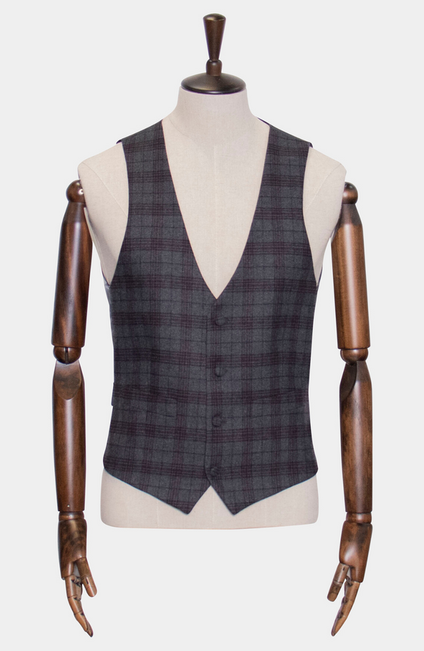 INISHEER CHECK WAISTCOAT - HIRE (IN STORE: £25 / ONLINE: £30)