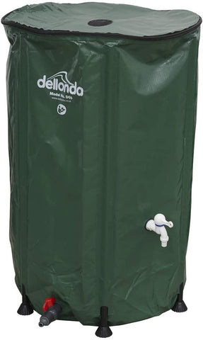 Collapsible Fold Up Water Butt with Zipped Lid & Drain Tap 250ltr
