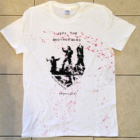 JEFF The Brotherhood Day of the Dead Blood-Splattered T-Shirt