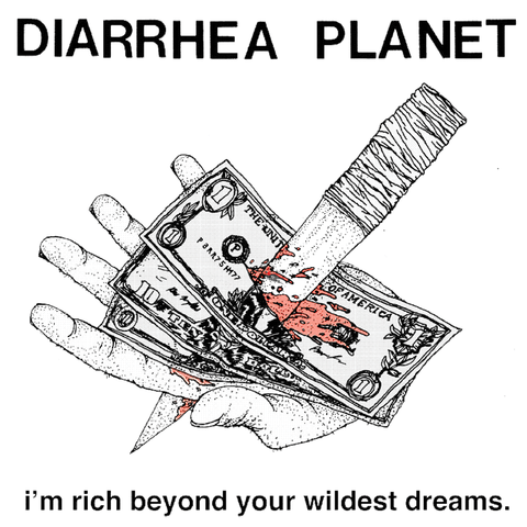 "Diarrhea Planet ""I'm Rich..."" (Shred Til Yer Red Edition) LP"
