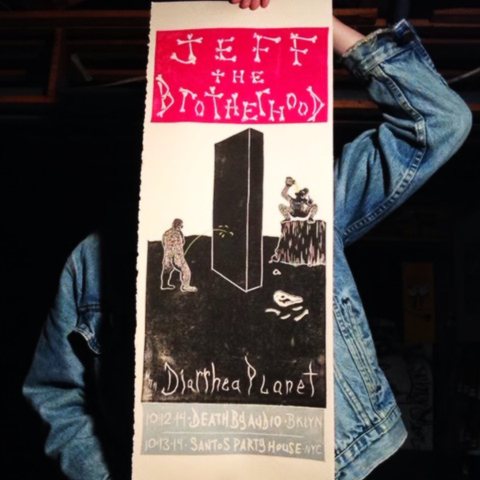 JEFF The Brotherhood/Diarrhea Planet Death By Audio/Santo's Poster