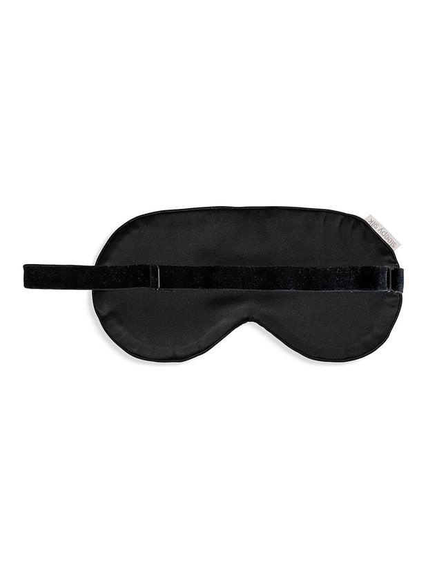 Sleepy Silk, Silk Eye Mask - Midnight Black Silk Sleep Mask (SS-EM-BK00), Silky Tots Silk Eye Mask, Slip Sleep Mask, SHHH Silk Silk Eye Mask