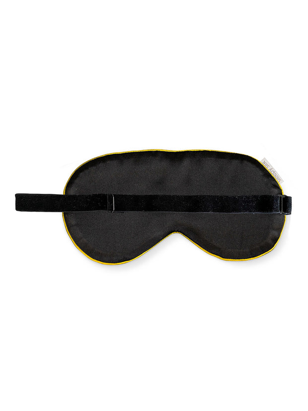 Sleepy Silk, Silk Eye Mask - Mustard Yellow Silk Sleep Mask (SS-EM-YE00), Silky Tots Silk Eye Mask, Slip Sleep Mask, SHHH Silk Silk Eye Mask