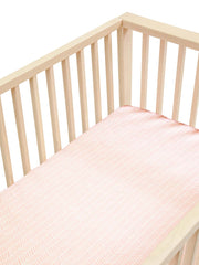 Sleepy Silk, Silk Fitted Sheet for Cots / Cribs - Blush Herringbone Pink - pattern (SS-FC-PK01) for baby hair loss and baby bald spots, Silky Tots 100% Silk Cot Sheet, Pawda Baby 100% Mulberry Silk Cot Full Fitted Sheet, Monday Silks, Baby Tresses Cot Bed Sheet