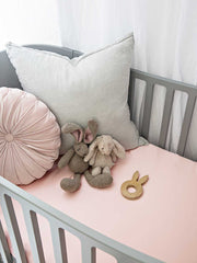 Sleepy Silk, Silk Fitted Sheet for Cots / Cribs - Blush Pink (SS-FC-PK00) for baby hair loss and baby bald spots, Silky Tots 100% Silk Cot Sheet, Pawda Baby 100% Mulberry Silk Cot Full Fitted Sheet, Monday Silks, Baby Tresses Cot Bed Sheet