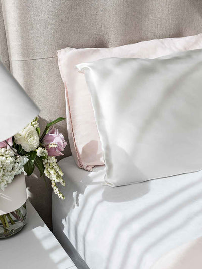 Sleepy Silk, Silk Pillowcase - Ivory White (SS-PC-WH00), Silky Tots Double Sided Silk Pillow Slip, Pawda Baby 100% Mulberry Silk Junior or Adult Pillow Case, Slip Pillowcase, SHHH Silk Silk Pillowcase, Blissy SIlk Pillowcase