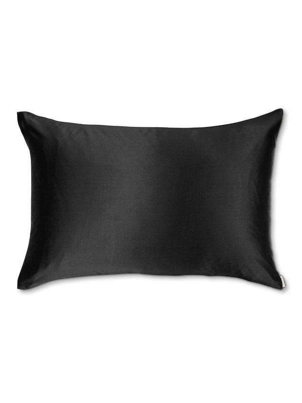Sleepy Silk, Silk Pillowcase - Midnight Black (SS-PC-BK00), Silky Tots Double Sided Silk Pillow Slip, Pawda Baby 100% Mulberry Silk Junior or Adult Pillow Case, Slip Pillowcase, SHHH Silk Silk Pillowcase