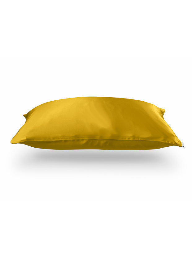 Sleepy Silk, Silk Pillowcase - Mustard Yellow (SS-PC-YE00), Silky Tots Double Sided Silk Pillow Slip, Pawda Baby 100% Mulberry Silk Junior or Adult Pillow Case, Slip Pillowcase, SHHH Silk Silk Pillowcase, Blissy Silk Pillowcase