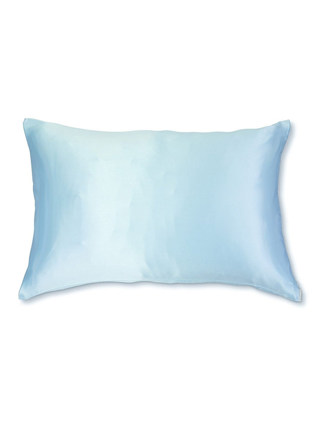 Sleepy Silk, Silk Pillowcase - Sky Blue (SS-PC-BL00), Silky Tots Double Sided Silk Pillow Slip, Pawda Baby 100% Mulberry Silk Junior or Adult Pillow Case, Slip Pillowcase, SHHH Silk Silk Pillowcase
