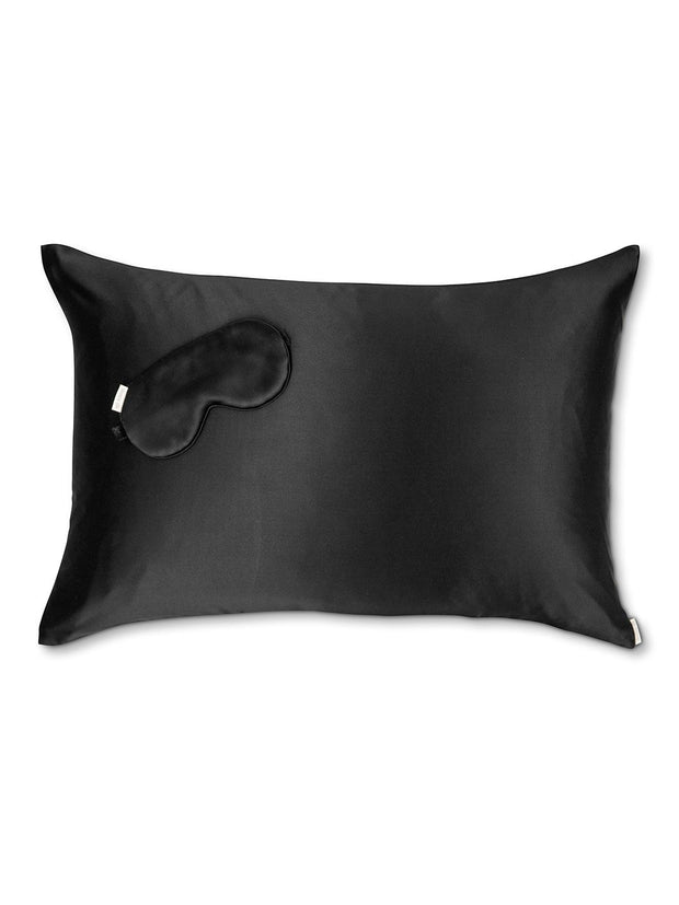 Sleepy Silk, Silk Pillowcase + Silk Eye Mask Set - Midnight Black Silk Sleep Mask (SS-PE-BK00), Silky Tots Silk Pillow Slip + Silk Eye Mask, SLIP Beauty to Go! Travel Set, SHHH Silk Travel Set