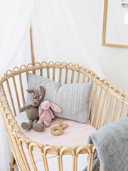 Sleepy Silk, Silk Sleeve, Set of 2 (Bassinet & Cot / Crib Sleeve) - Blush Herringbone Pink - pattern (SS-BC-PK01) for baby hair loss and baby bald spots, Silky Tots Silk Cot Slip + Silk Bassinet Slip, Pawda Baby 100% Mulberry Silk Cot Semi Sheet and Silk Semi Sheet for Bassinet, Monday Silks, Baby Tresses Cot Bed Sheet