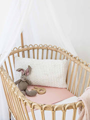 Sleepy Silk, Silk Sleeve, Set of 2 (Bassinet & Cot / Crib Sleeve) - Dove Grey - Blush Pink (SS-BC-PK00) for baby hair loss and baby bald spots, Silky Tots Silk Cot Slip + Silk Bassinet Slip, Pawda Baby 100% Mulberry Silk Cot Semi Sheet and Silk Semi Sheet for Bassinet, Monday Silks, Baby Tresses Cot Bed Sheet