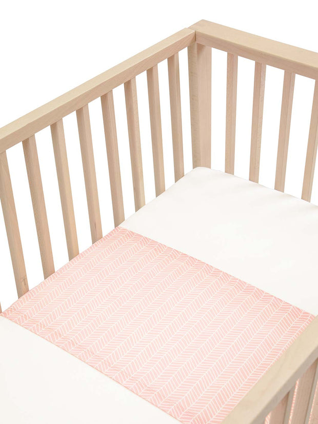 Sleepy Silk, Silk Sleeve for Cots / Cribs - Blush Herringbone Pink - pattern (SS-CS-PK01) for baby hair loss and baby bald spots, Silky Tots Silk Cot Slip, Pawda Baby 100% Mulberry Silk Cot Semi Sheet, Monday Silks, Baby Tresses Cot Bed Sheet
