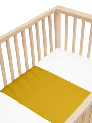 Sleepy Silk, Silk Sleeve for Cots / Cribs - Mustard Yellow (SS-CS-YE00) for baby hair loss and baby bald spots, Silky Tots Silk Cot Slip, Pawda Baby 100% Mulberry Silk Cot Semi Sheet, Monday Silks, Baby Tresses Cot Bed Sheet