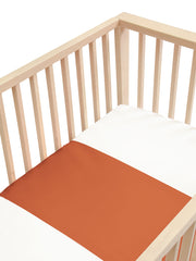 Sleepy Silk, Silk Sleeve for Cots / Cribs - Terracotta Brown (SS-CS-BR00) for baby hair loss and baby bald spots, Silky Tots Silk Cot Slip, Pawda Baby 100% Mulberry Silk Cot Semi Sheet, Monday Silks, Baby Tresses Cot Bed Sheet