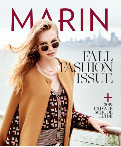 Marin Magazine Fall Fashion Issue Cover