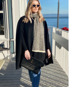 Madelyn Long Cape Black