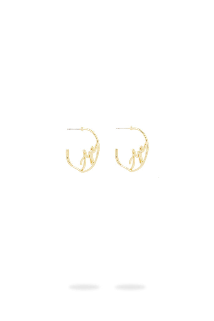 Aje Logo Hoop Earrings