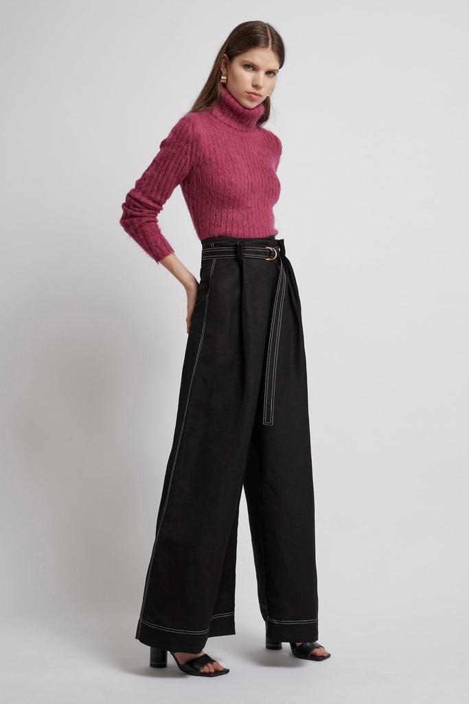 Psychedelia Pleat Wide Leg Trouser
