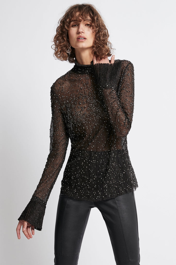 Rebellion Embellished Frill Blouse