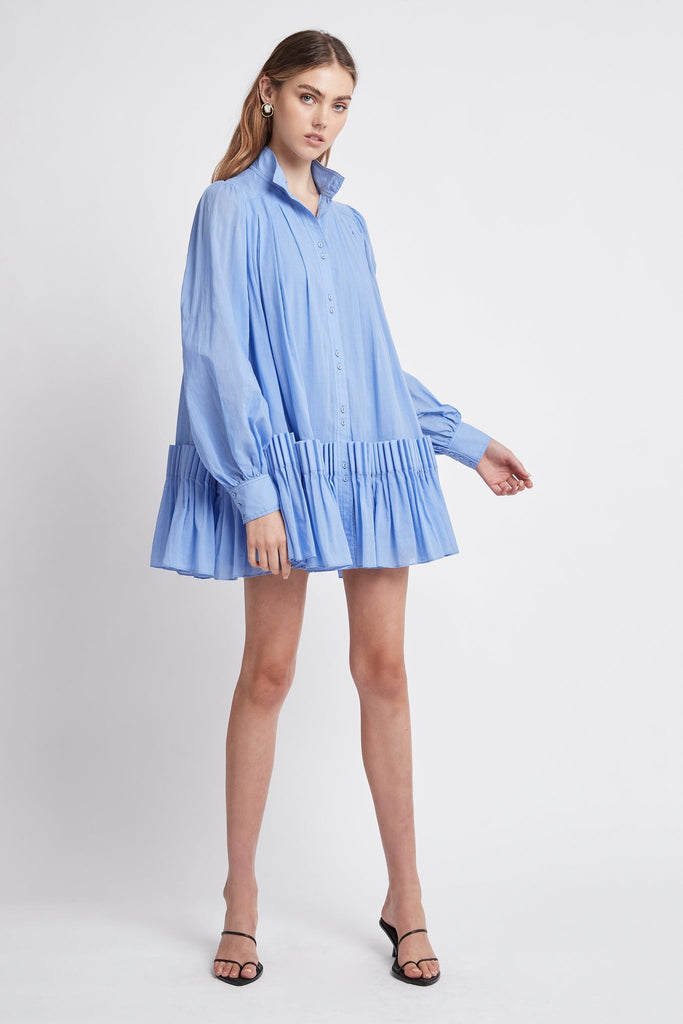 Pavillon Pleat Mini Dress