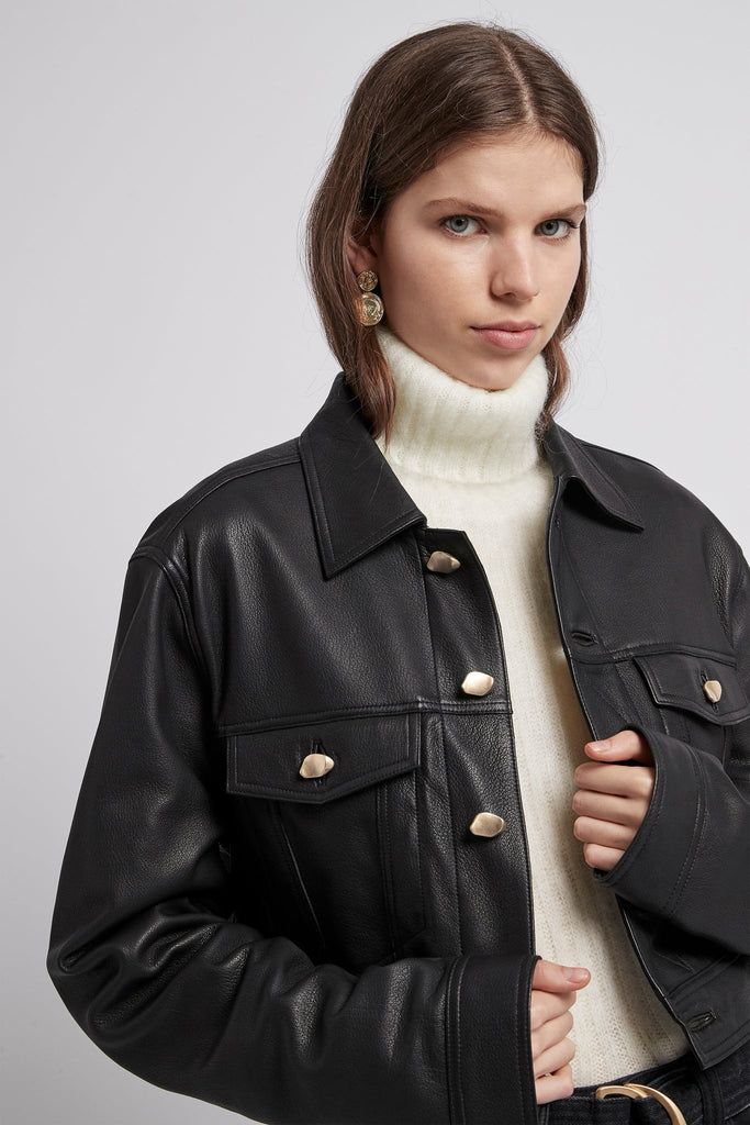 Liberation Leather Crop Jacket