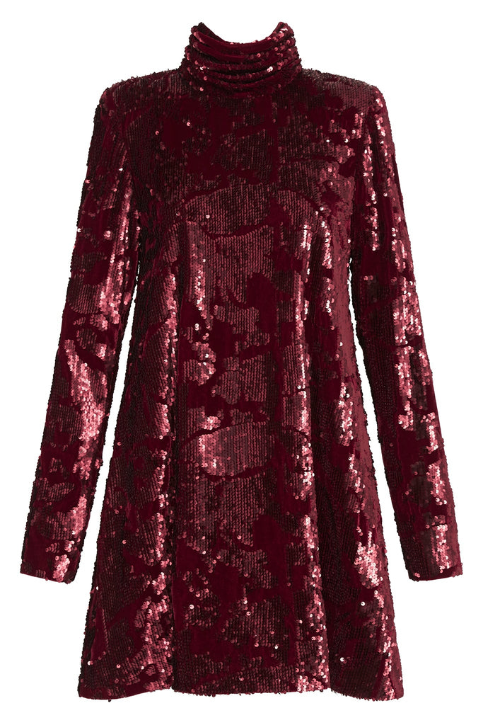 Rebellion Embellished Velvet Mini Dress
