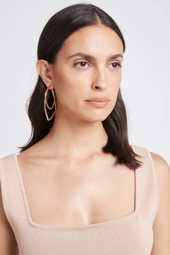 Deco Hoop Earrings