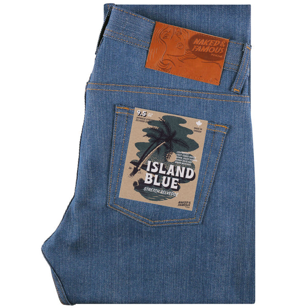 Naked & Famous Weird Guy - Island Blue 9.5oz Stretch Selvedge
