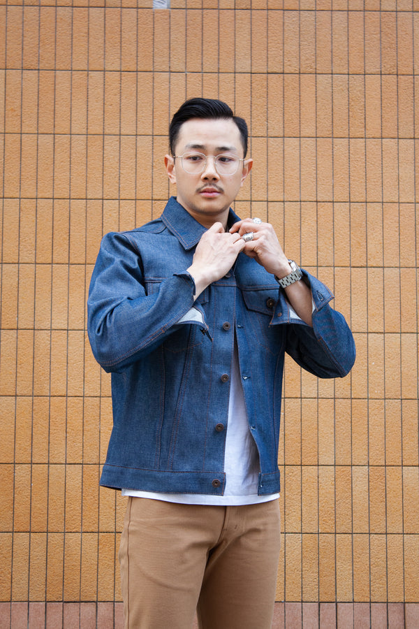 Naked & Famous Denim Jacket - Natural Indigo Selvedge - Dutil Denim