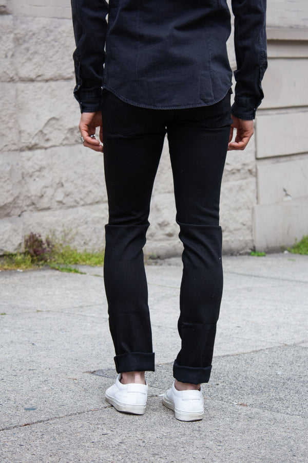 Nudie Grim Tim - Dry Cold Black Jeans & Apparel - Dutil Denim