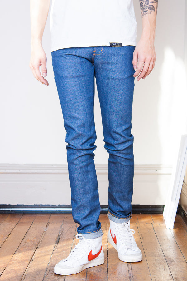 Naked & Famous Super Guy - Island Blue Stretch Selvedge Jeans & Apparel - Dutil Denim