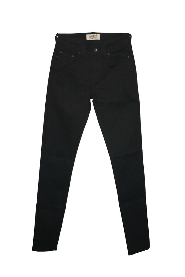 Naked & Famous Skinny - Black Power Stretch - Dutil Denim