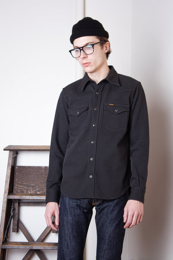 Iron Heart Kersey Western Shirt - Dark Grey Jeans & Apparel - Dutil Denim
