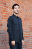 Pure Blue Japan Selvedge Denim Chinstrap Workshirt - Washed Black Jeans & Apparel - Dutil Denim