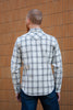 Iron Heart Ultra Heavy Flannel Western - Off White Plaid Jeans & Apparel - Dutil Denim