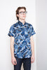 Naked & Famous Short Sleeved Easy Shirt - Jungle Vacation Blue Jeans & Apparel - Dutil Denim