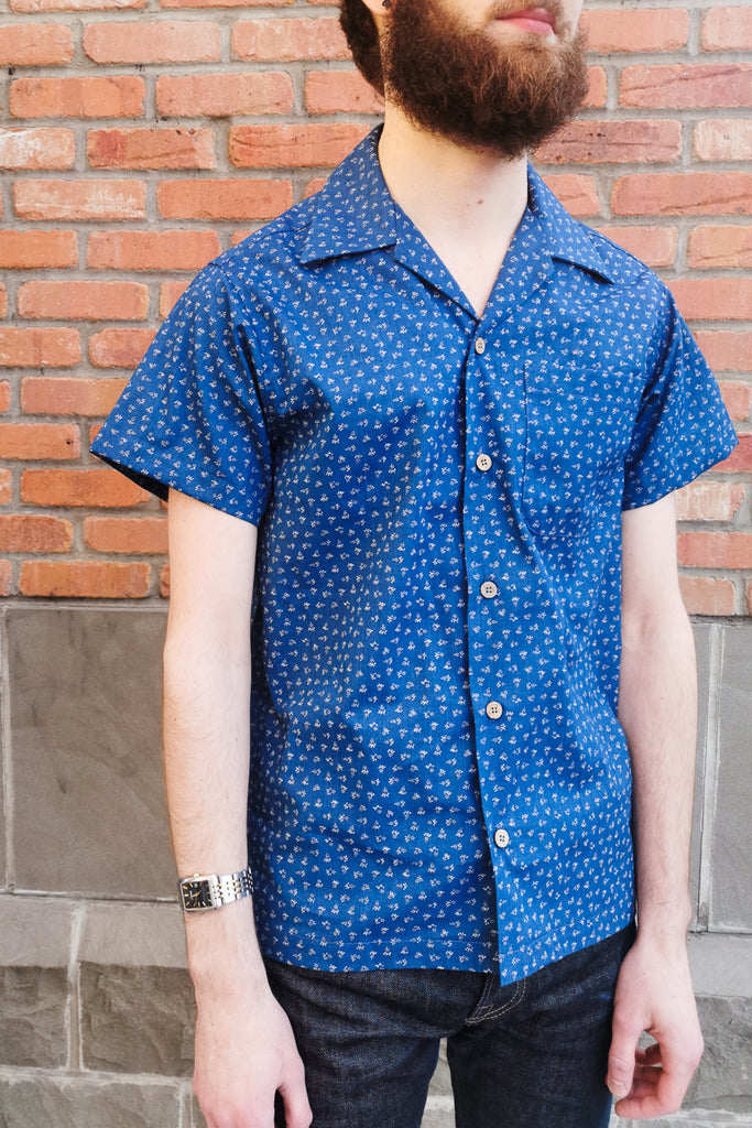 Naked & Famous Aloha Shirt - Indigo Ditsy Print Jeans & Apparel - Dutil Denim