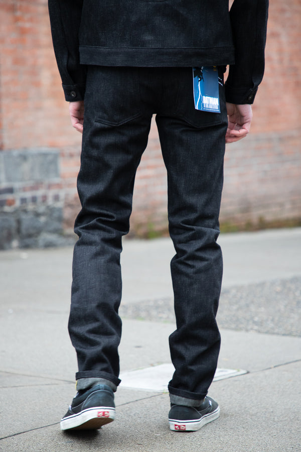 Naked & Famous Super Guy - Dark Knight Selvedge 16oz Black x Grey