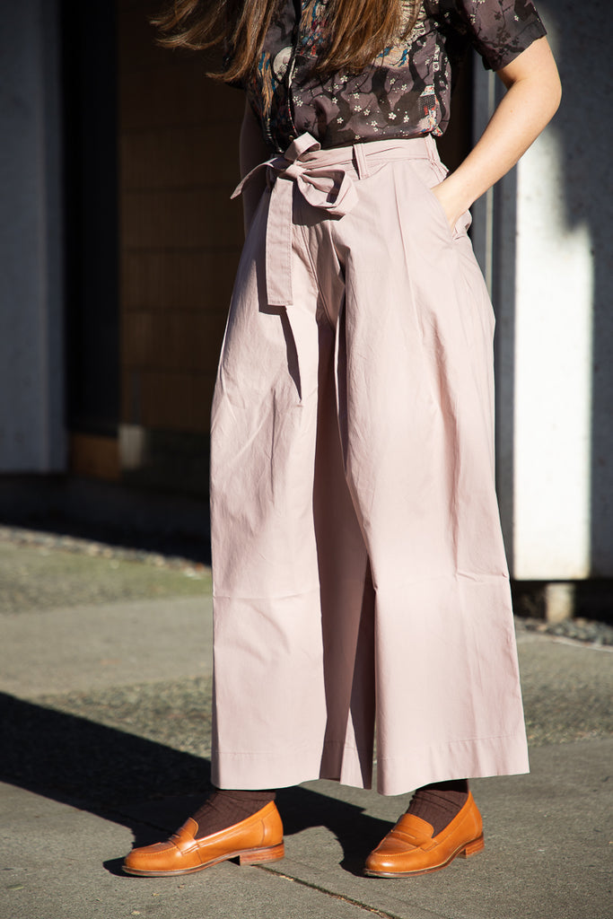 Naked & Famous Wide Pant - Cotton Typewriter - Blush
