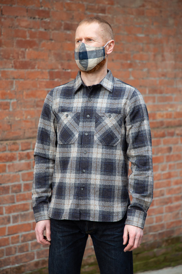 Rogue Territory BM Shirt - Grey Herringbone Plaid