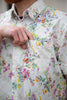 Naked & Famous Short Sleeve Easy Shirt - Flower Painting - White