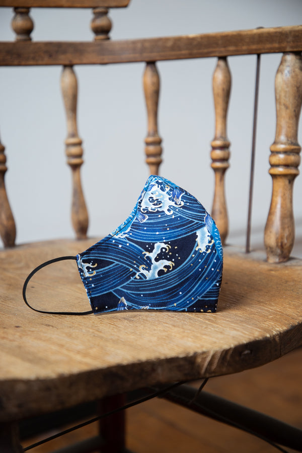 Naked & Famous Face Mask - Koi Fish Blue