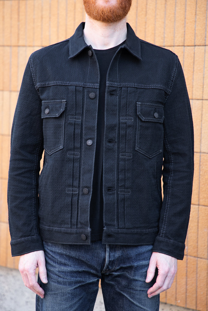 Pure Blue Japan Type II Jacket Sashiko Double Black