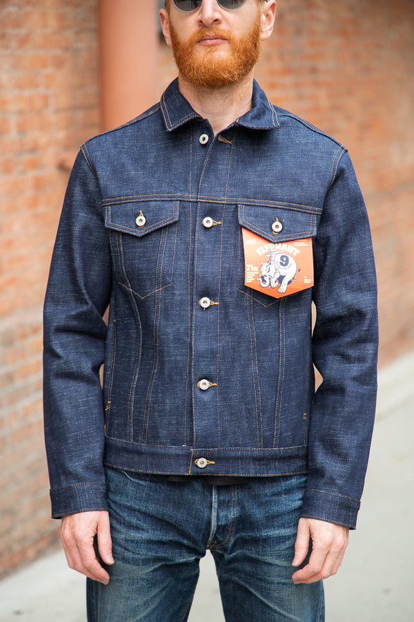 Naked & Famous Denim Jacket - Elephant 9 Wild Blue