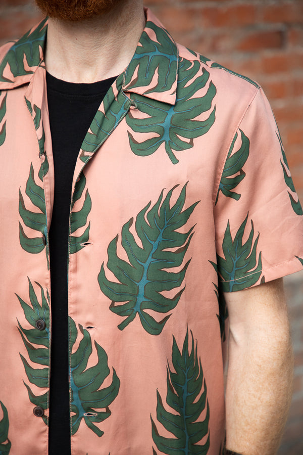 Nudie Arvid Shirt - Leaf Apricot